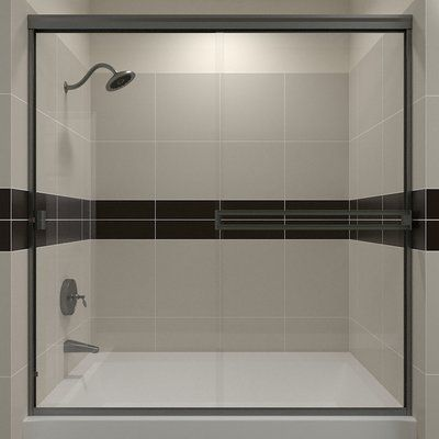 Arizona Shower Door Te 57 38 X 60 Bypass Semi Frameless Tub Door
