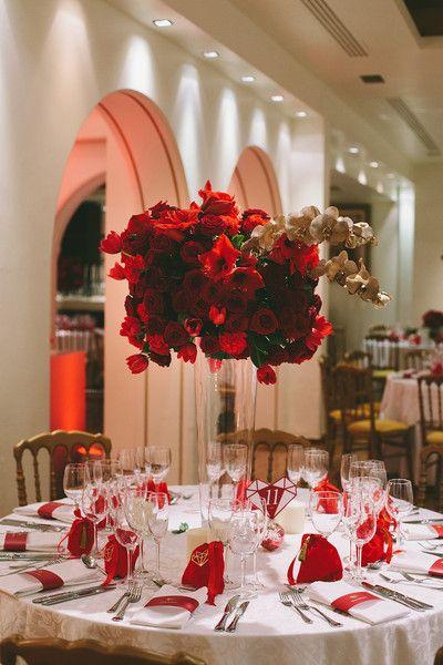 Holiday Greece Palace Wedding Red Wedding Decorations White Wedding Decorations Reception Table Decorations