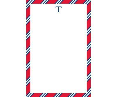 Note Pads | Red Repp Tie Notepads | Lemon Tree Paperie