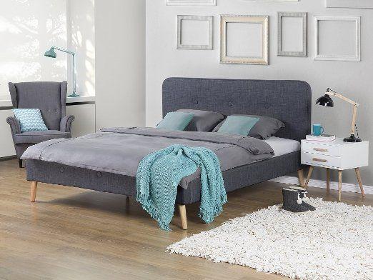 Amazonde Bett Grau - Doppelbett 160x200 cm - Ehebett - schlafzimmer bett 160x200