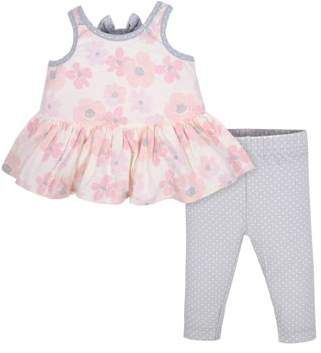 6007d9eca Gerber Sleeveless Tunic with Bow and Leggings, 2pc Outfit Set (Baby Girls)