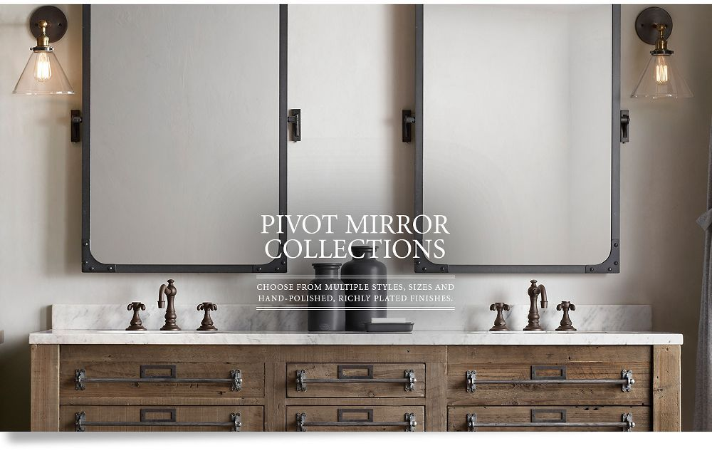 Pivot Mirrors Restoration Hardware Restoration Hardware Bathroom Bathroom Restoration Bathroom Mirror