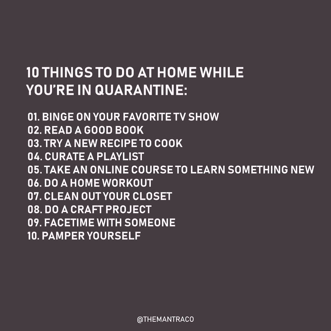 The Mantra Co On Instagram How Are You Occupying Your Time At Home Things To Do At Home Things To Do When Bored What To Do When Bored