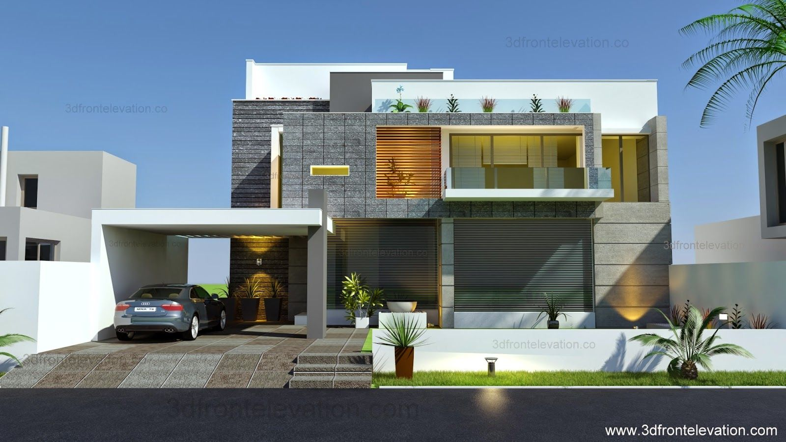 Beautiful modern contemporary house elevation 2015 architectural