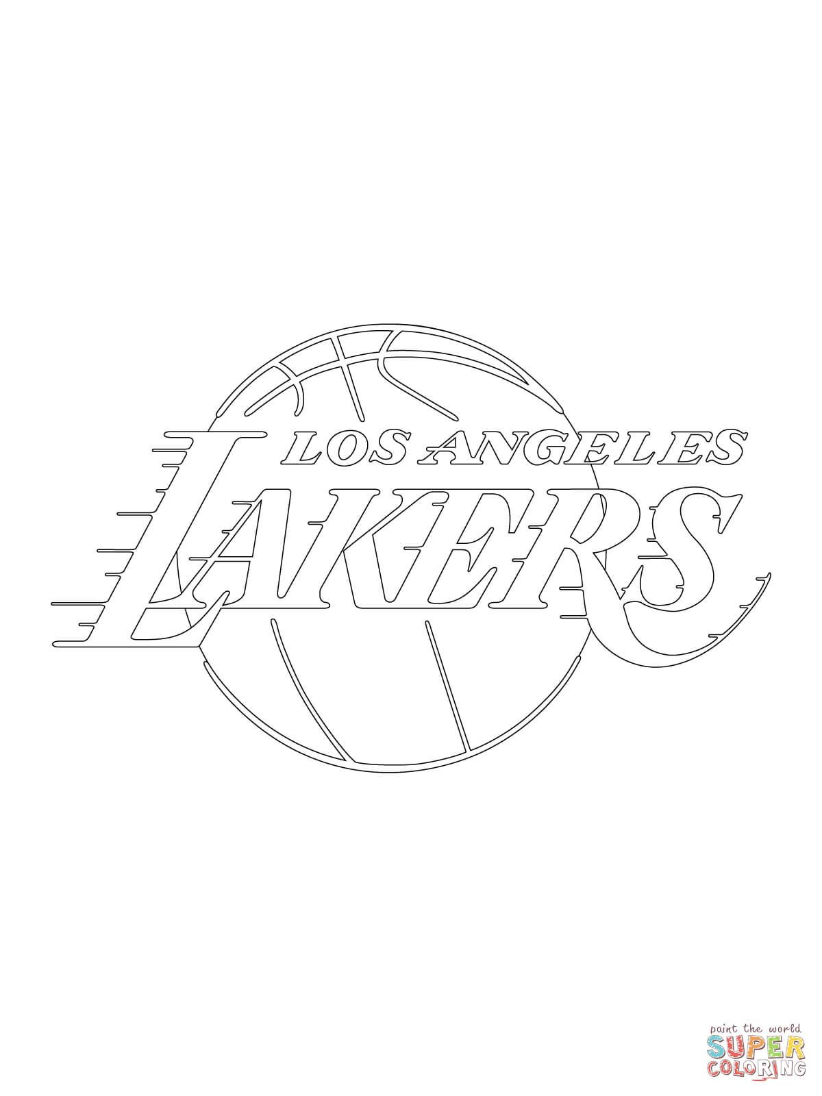 Los Angeles Lakers Logo coloring page Free Printable