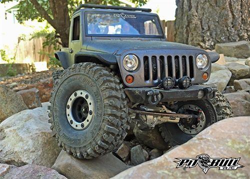 Pit Bull Xtreme RC Tires 1.9inch Rock Beast XL Scale Rock Crawler Tires w/ Foams 2pcs Alien #PB9011NK