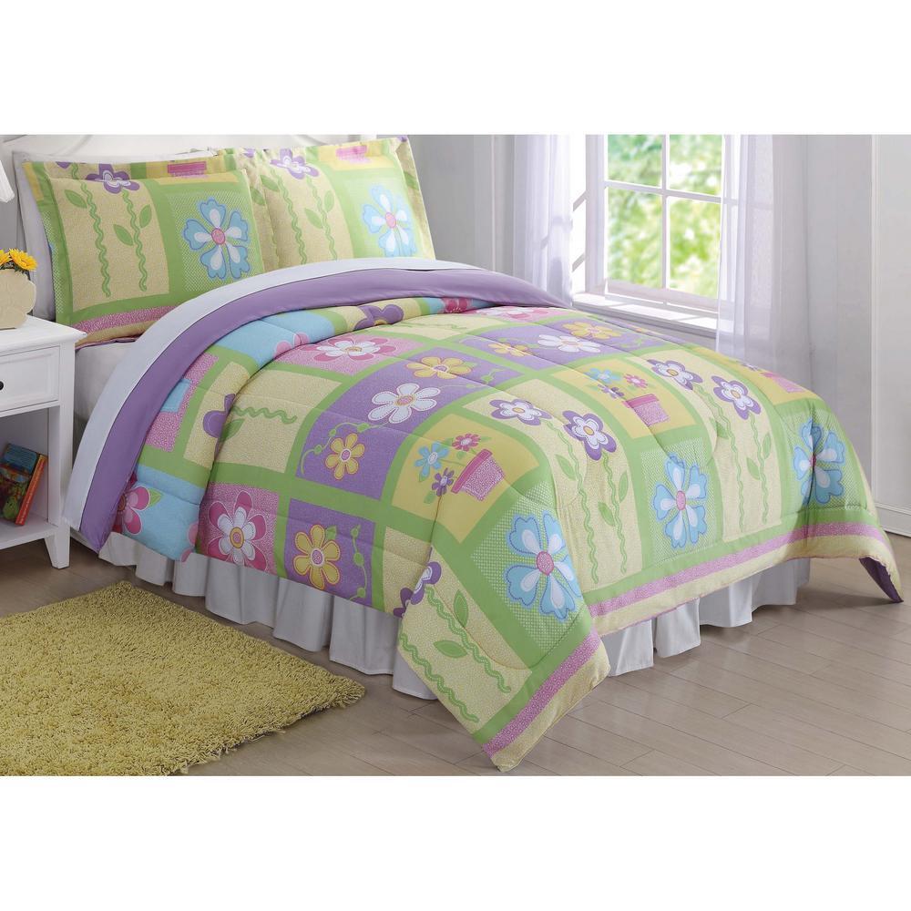 Laura Hart Kids Sweet Helena Yellow Queen Comforter Set