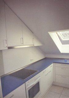 Küche Weiß, Dachschräge (a 01 013)