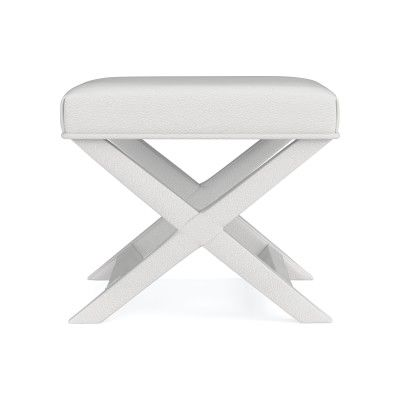 Incredible X Base Stool Pebbled Leather White Products In 2019 Machost Co Dining Chair Design Ideas Machostcouk