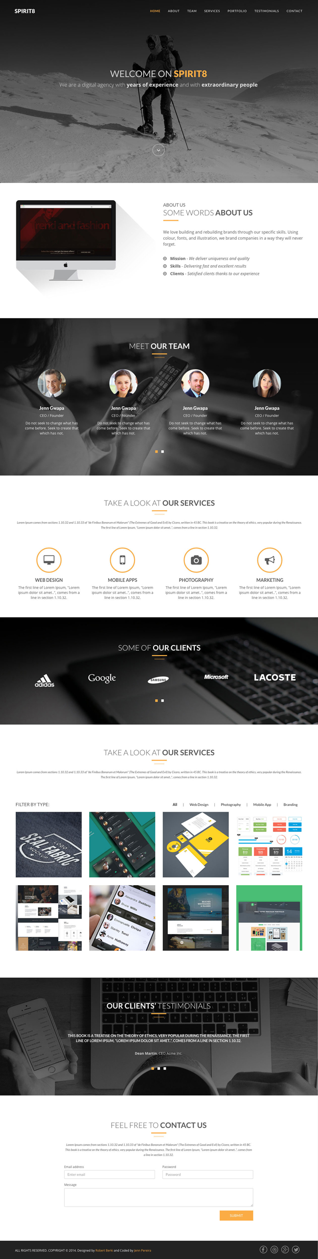 Free Download Spirit8 Bootstrap Based Html Template Psd Included Html Templates Ecommerce Template Templates