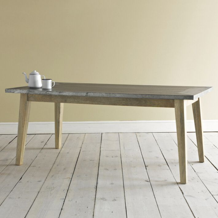Zinc top dining table loafcom Zinc Table Tops Pinterest