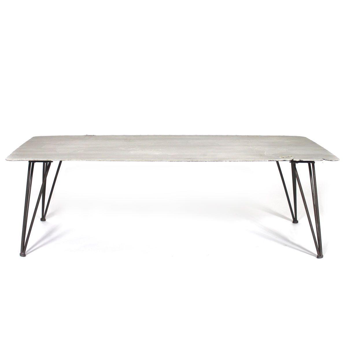 Table Basse Industrielle Ciment Et Metal Coffee Table Decor Table