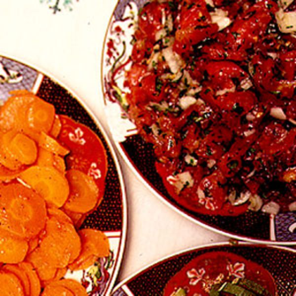 Searing the bell peppers makes this Moroccan salad unique.