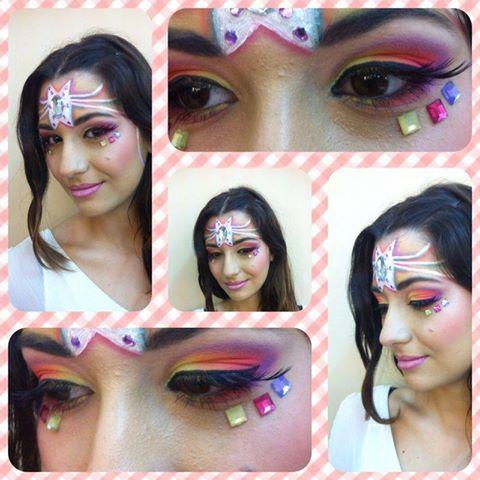 Maquillaje De Fantasía Realizado Por Mª Del Mar Alumna Del Curso De Estética Presencial De Sevilla Maquillaje Artístico Estetica Artistas