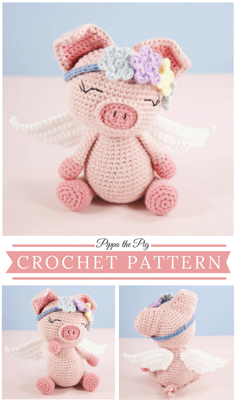 Pippa the pig crochet pattern, this is just the cutest pig I\'ve ever ...