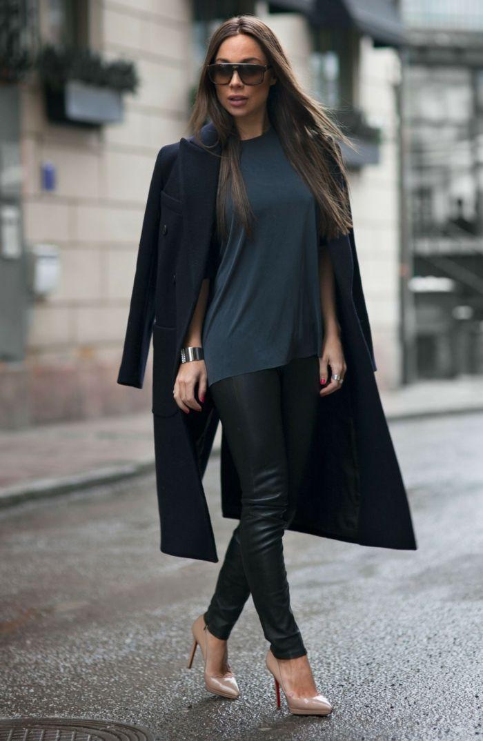 Mantel schwarz elegant