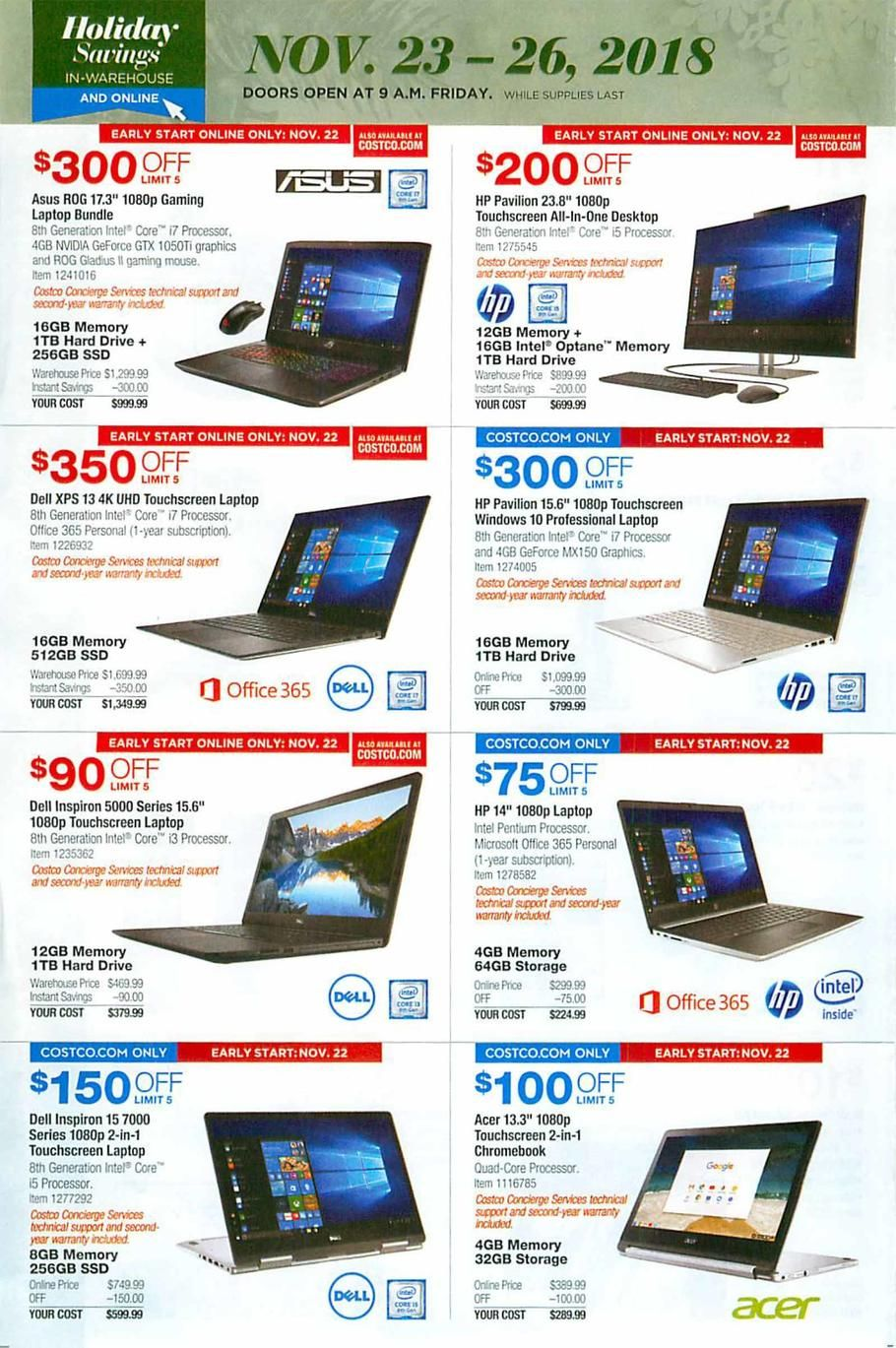 Costco Black Friday 2018 Ads Scan Deals And Sales See The Costco Black Friday Ad 2018 At 101blackfriday Com Find The Bes Black Friday Ads Black Friday Friday