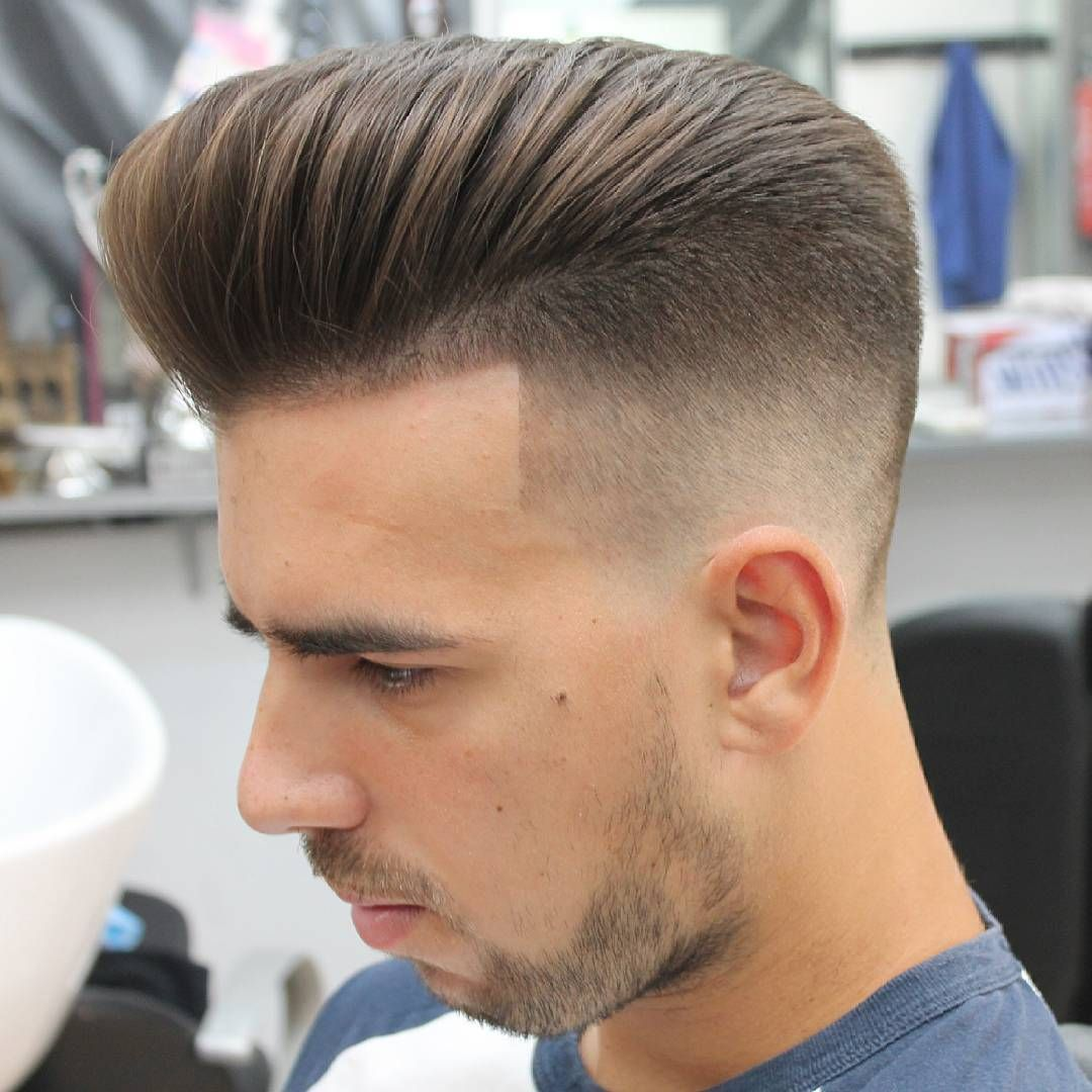 Haircut for men for thin hair pompadour with natural flow hairstyles  mens hair style