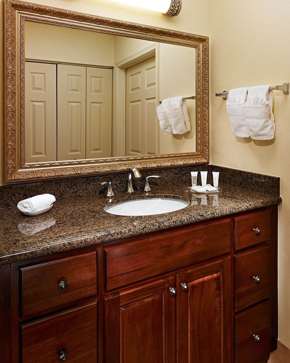 Tropical Brown Granite Bathroom Vanity