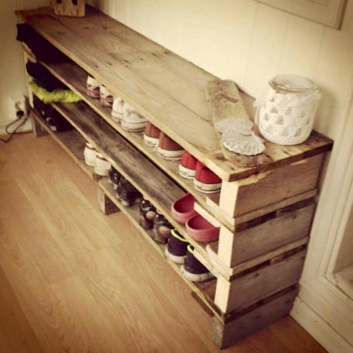 Meuble a chaussures palette Bricolage Pinterest Pallets - meuble a chaussure en bois de palette