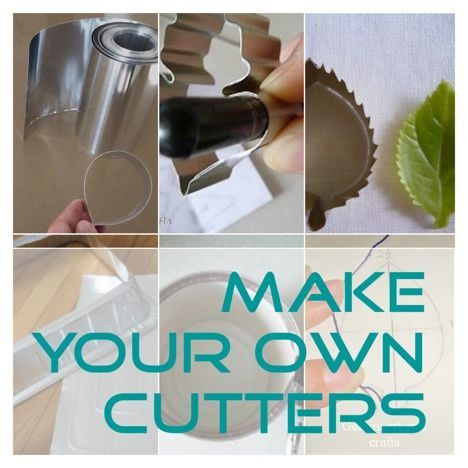 make your own cutters clay cutters and cookies cutters  DIY cutter using alumi