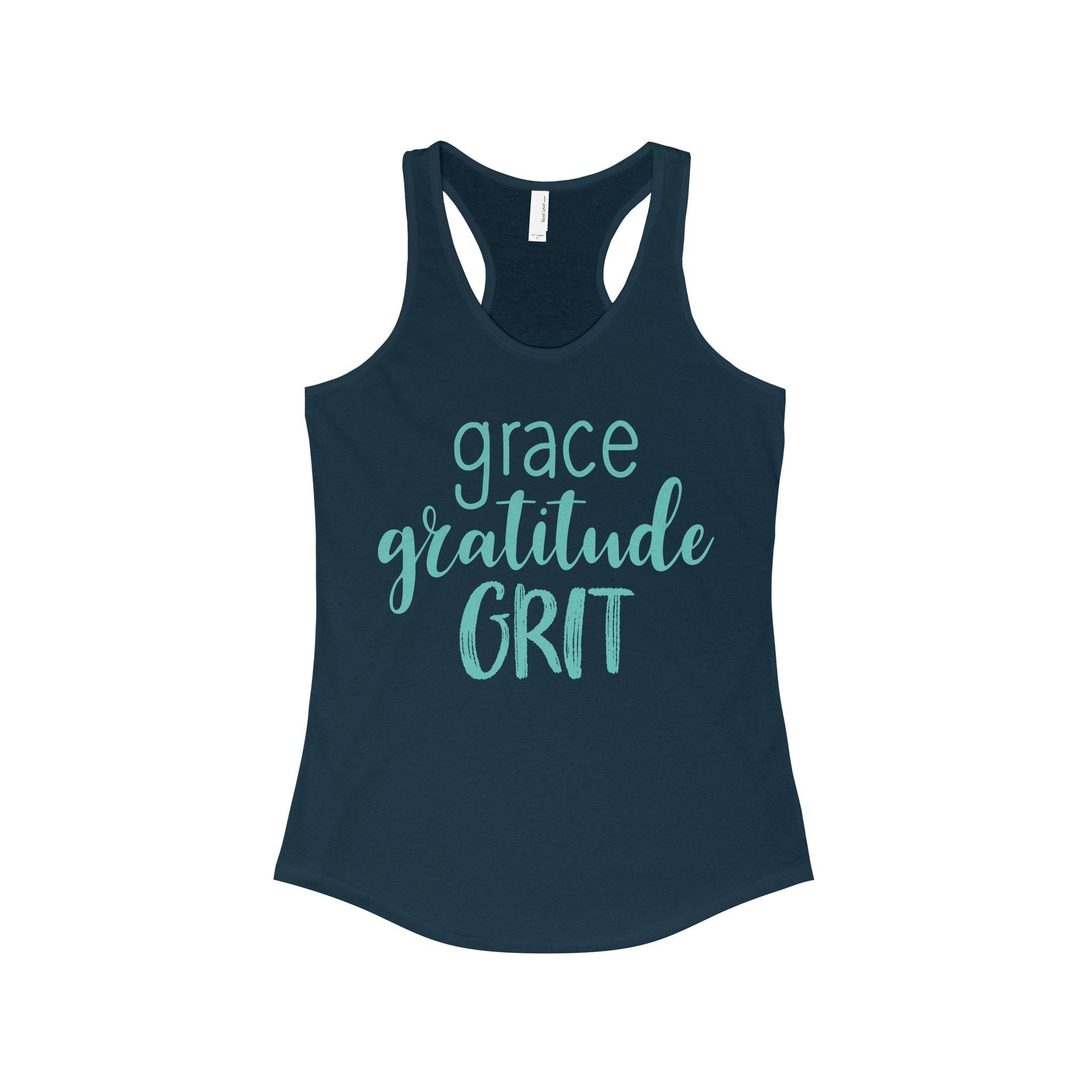 Grace Gratitude Grit - The Ideal Racerback Tank