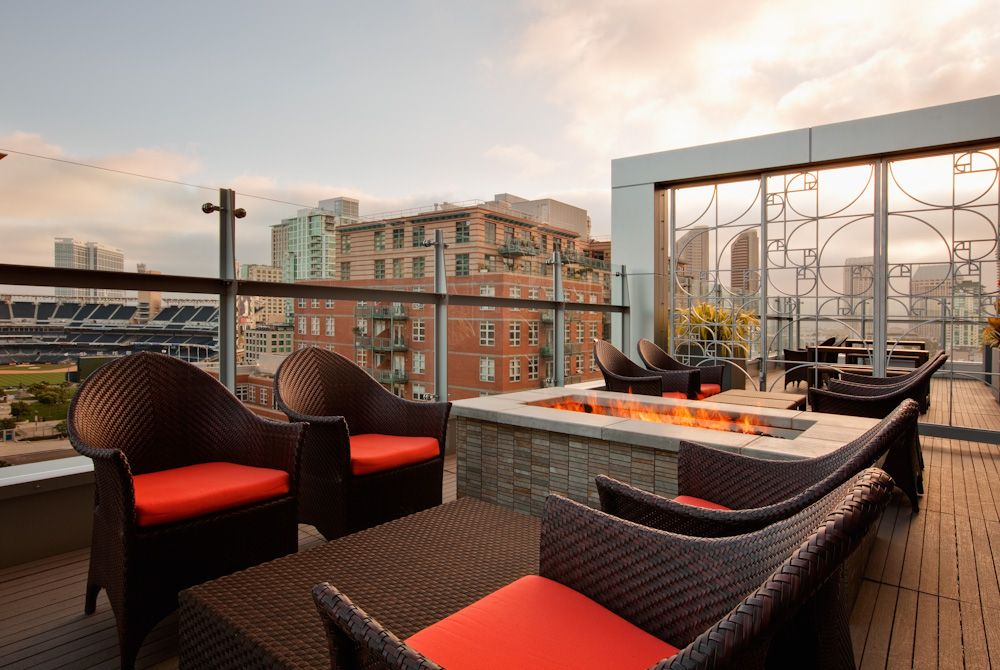 Watch The Padres Right From Level 9 Bar Interior Design Rooftop Design Terrace Decor