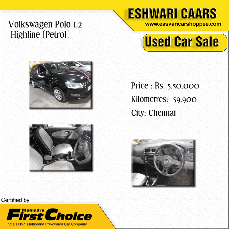 Volkswagen Polo 1 2 Highline Petrol Price Rs 5 50 000 Kilometers 59 900 City Chennai Eashwaricaars Fir Cars For Sale Used Volkswagen Polo Latest Cars
