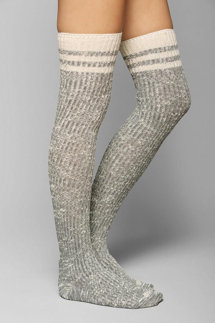 05fadafcc Marled Varsity Stripe Over-The-Knee Sock  urbanoutfitters