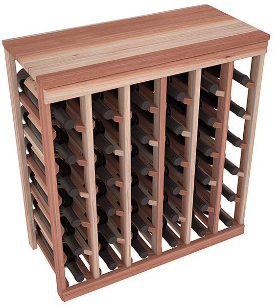 36 Bottle Table Top Wine Storage Rack Kit In Redwood. 13
