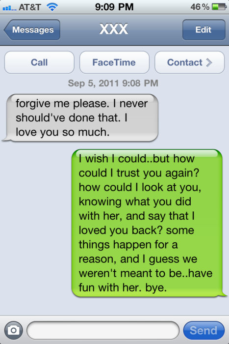what to say in a break up text message