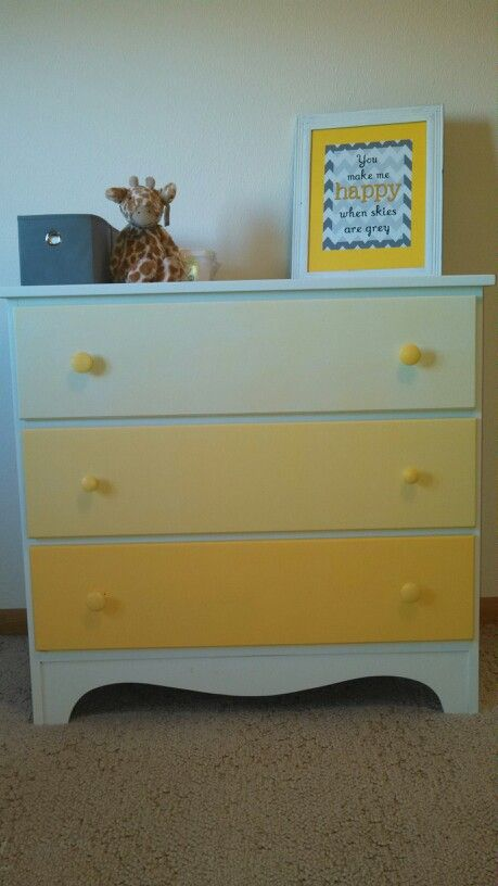 DIY ombre dresser for Baby Wemhoff! Cannot wait to meet ...