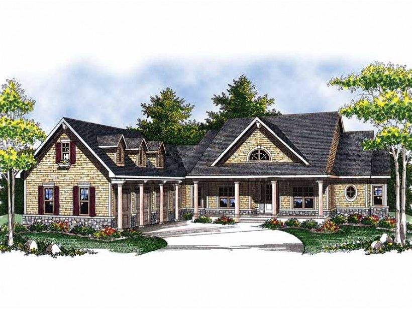 Floor Plan AFLFPW01232 is a beautiful 2614 square foot  Ranch  home design with 3 Garage Bays