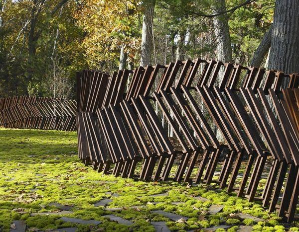 Elegant Garten Zaun Grenzen Idee Design Design Schräg