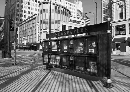 Photo Newspaper Stands On Randolph