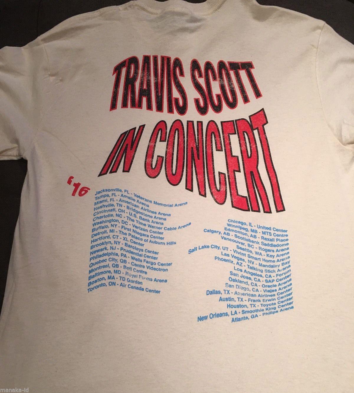 c43161717b811 Gildan Travis Scott Rodeo Anti Tour Merch Tour T Shirt White Yeezus ...