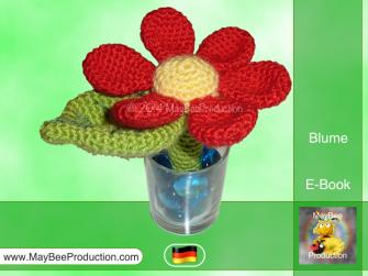 Blume Mit Stiel Pdf Häkelanleitung Häkelblumen Pinterest