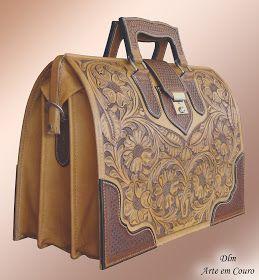 """DLM Arte em Couro: Bolsa Modelo """" Doctor Briefcase"""""""