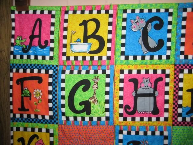 ABC's baby quilt project on Craftsy.com | Gift plans | Pinterest ... : abc quilt - Adamdwight.com