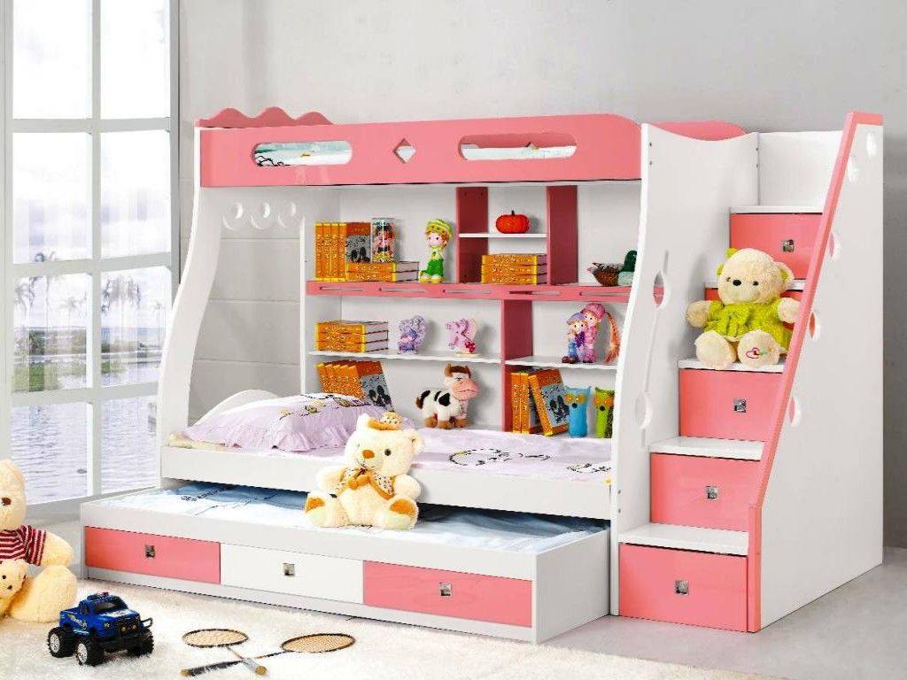 Double Bunk Bed With Desk Image Of Childrens Bunk Beds With Stairs And Desk Bunk