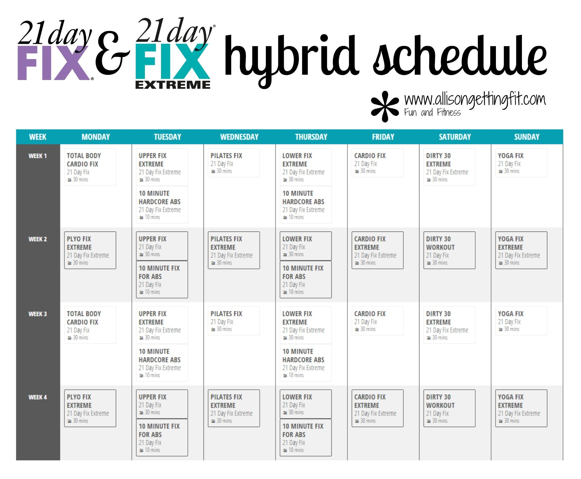 Worksheets Chalean Extreme Worksheets 21 day fix extreme workout calendar i like this pinterest and hybrid
