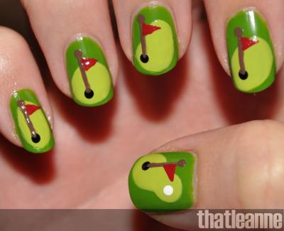 Thatleanne Golf Nail Art Duepallelamigliore Pinterest Fun