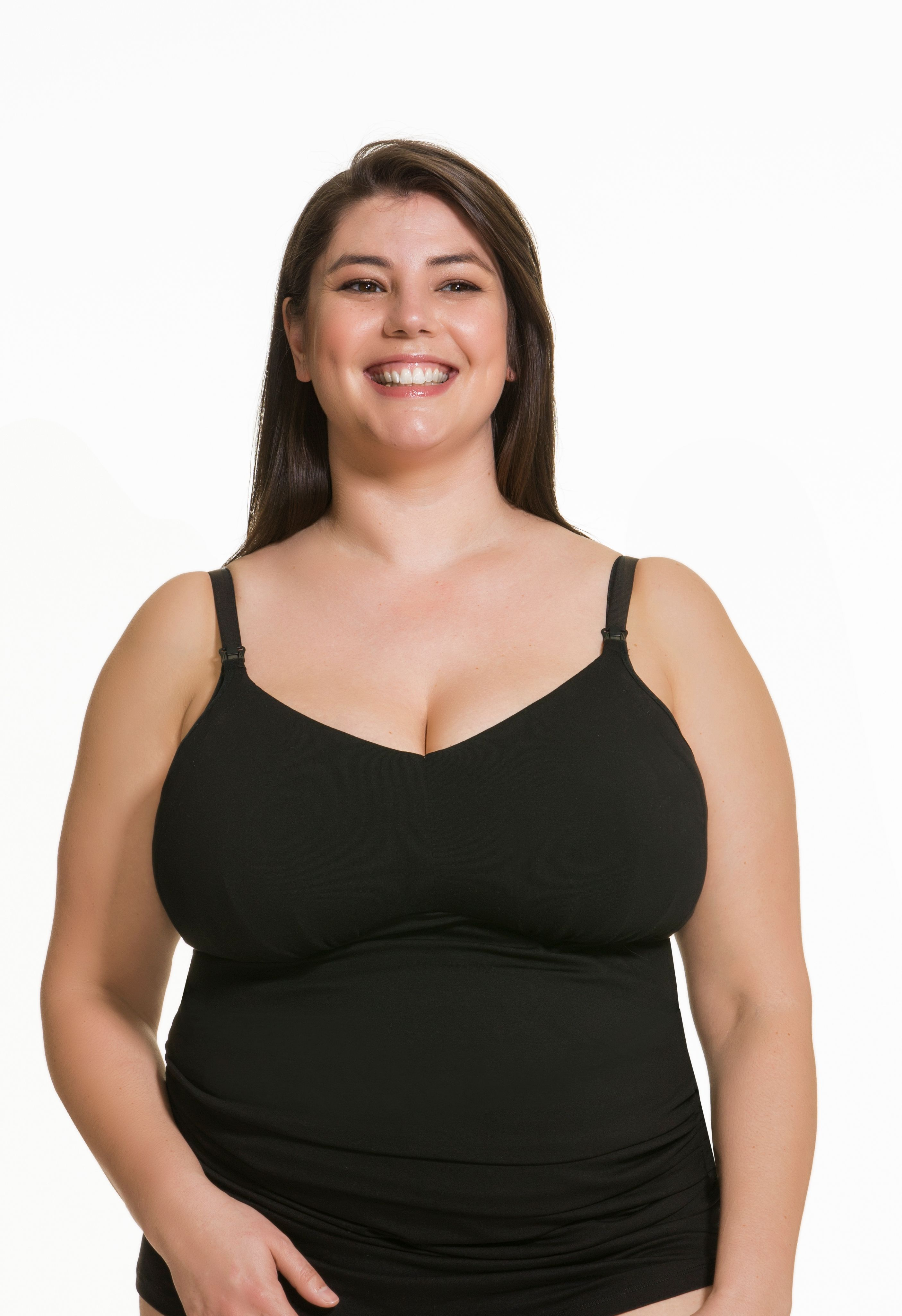 a98de740ceb52 Ultra comfy and soft, the Ice Cream Cotton Full Bust Nursing Tank is  especially made