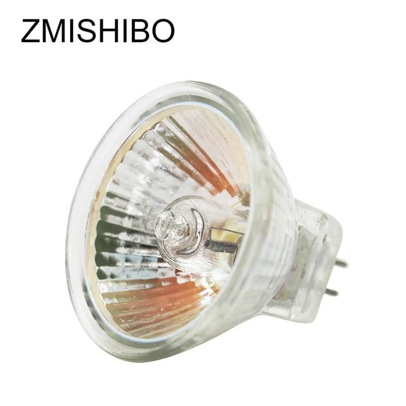 Zmishibo 10pcs Lot Mr16 Gu5 3 Halogen Bulb 12v 20w 35w 50w 220v Jcdr 5 In 2020 Halogen Bulbs Clear Glass Bulb