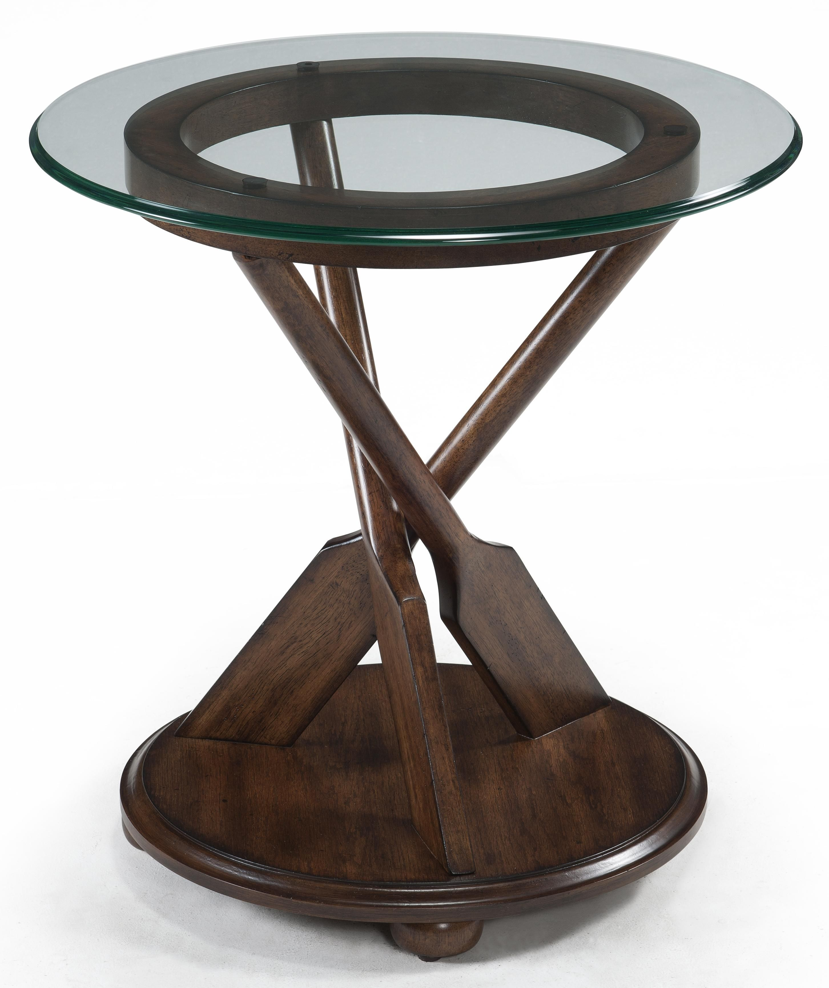 Beaufort Round End Table by Magnussen Home | Living Room - Wood ...