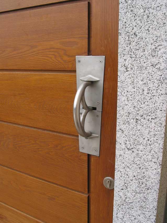 Front Door Brushed Stainless Latch Handle Handmade Door Latches