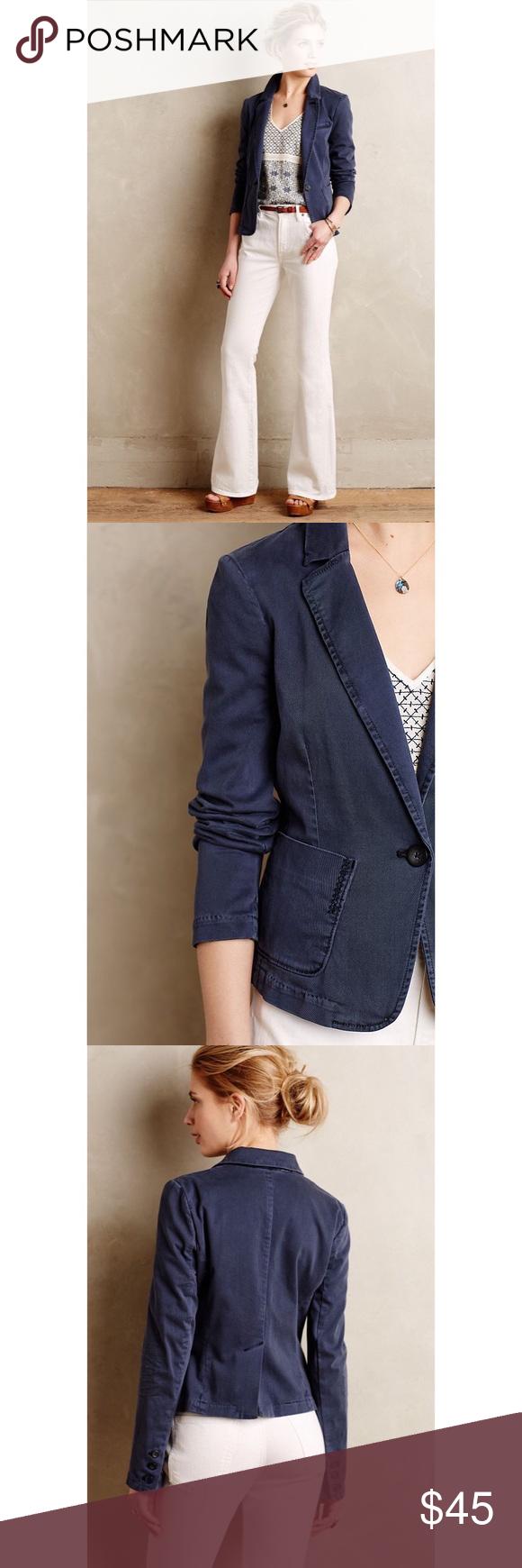 Hp Cartonnier Chino Blazer Anthropologie Jacket Clothes Design Blazer [ 1740 x 580 Pixel ]