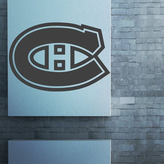 Montreal canadians wall decal nhl decals hockey gifts canadian hockey hockey decals