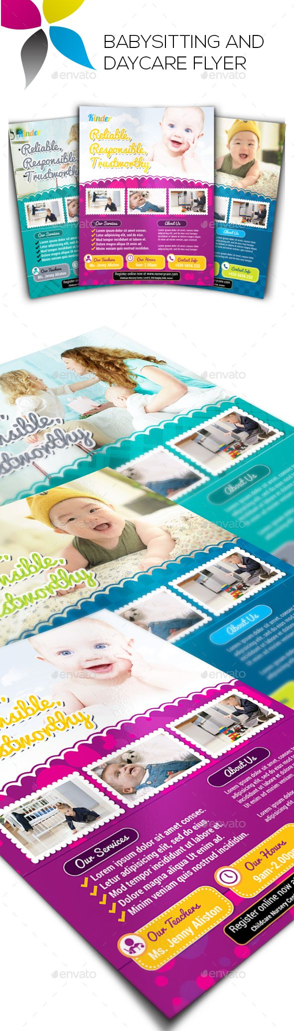 Babysitting And Daycare Flyers Babysitting Flyer Design Templates