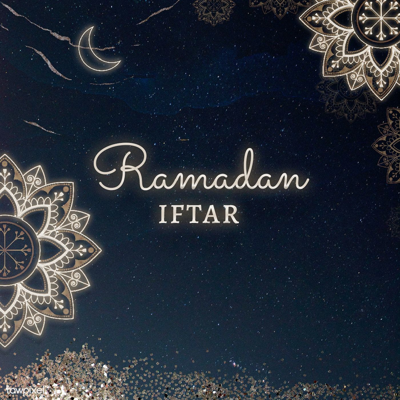 Blessing For Ramadan Card Template Free Image By Rawpixel Com Katie